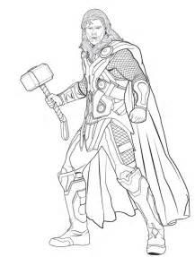 kolorowanka thor avengers malowanka wydruku nr 25