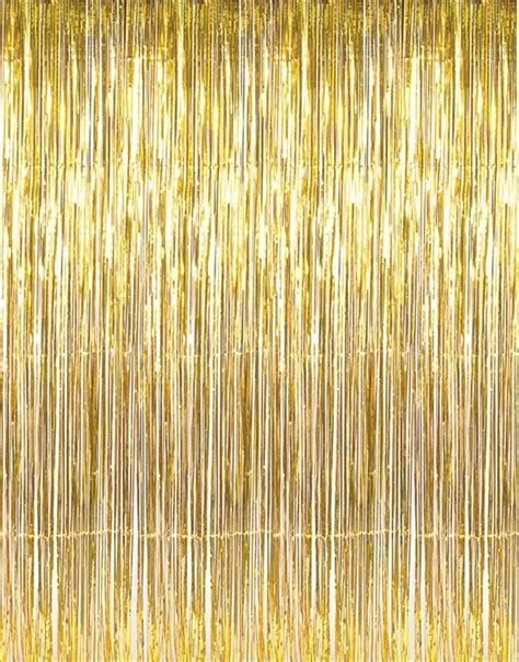 mylar fringe curtain not just another southern gal metallic gold 3ft x 8ft