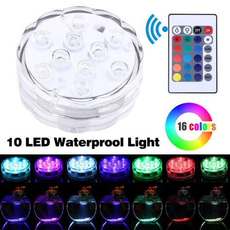 waterproof led lights for fish tanks submersible led color changing light rgb for vase