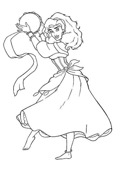 walt disney coloring pages esmeralda walt disney