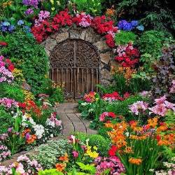Pictures Of Beautiful Gardens With Flowers Beautiful Gate In Garden And Oh My What A Garden Garden Gardens Beautiful