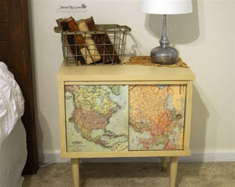Decoupage Maps On Furniture - 17 best ideas about decoupage table on