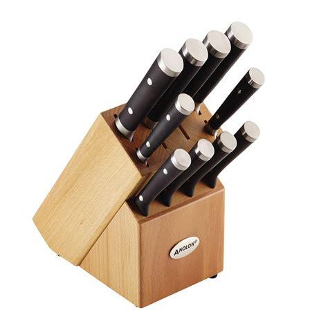 anolon kitchen knives anolon 11 japanese stainless steel knife set black