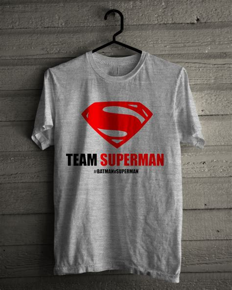 Tshirt Superman Buy Side team superman white grey available