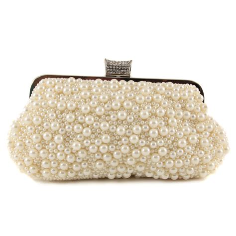 buy pearl detail clutch bag