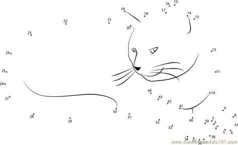 printable dot to dot cat cat bored by my littleidea dot to dot printable worksheet