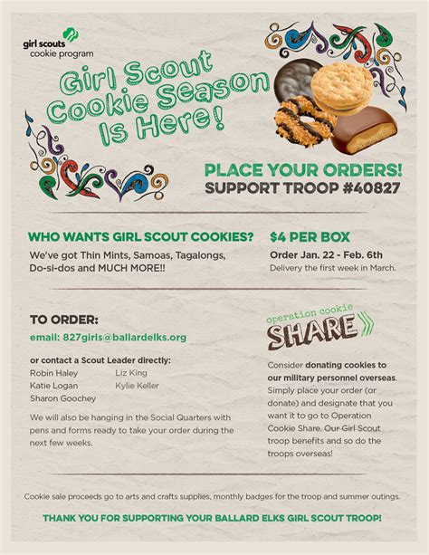Girl Scout Flyer Template Pictures To Pin On Pinterest Pinsdaddy Cookie Flyer Template