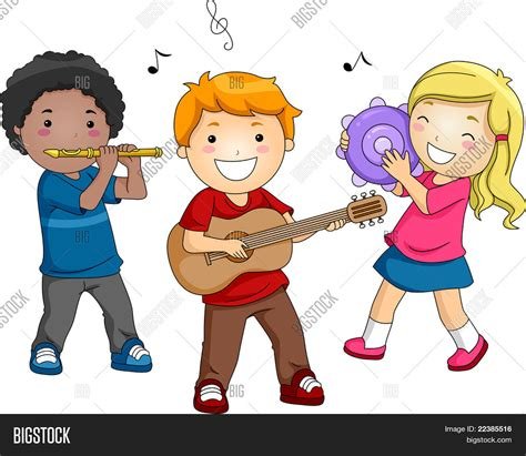 imagenes de niños tocando instrumentos musicales vectores y fotos en stock de ilustraci 243 n de ni 241 os jugando