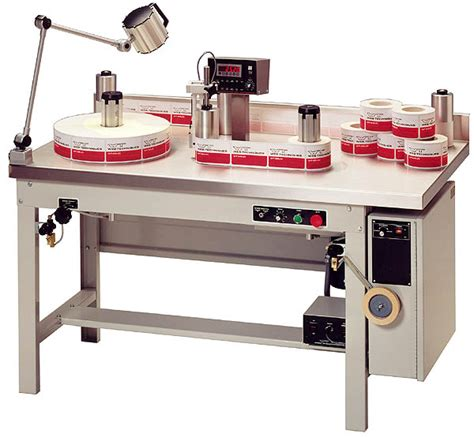 table top label rewinder model wt 25 series rewind and inspection systems web