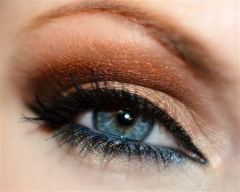 eyeshadow tutorial bronze bronze blue smokey eye lparisi29 eyes pinterest