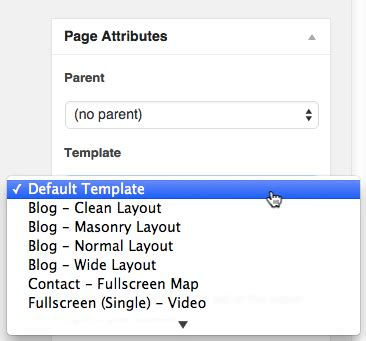 default page template jegtheme support documentation