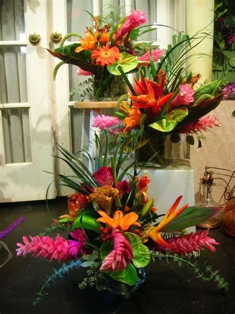 flower arrangement pictures with theme 25 best ideas about tropical wedding centerpieces on