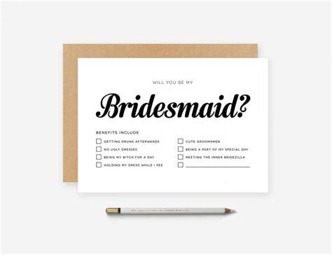 personalised bridesmaid invitations personalised custom will you be my bridesmaid of honor honour card invitation