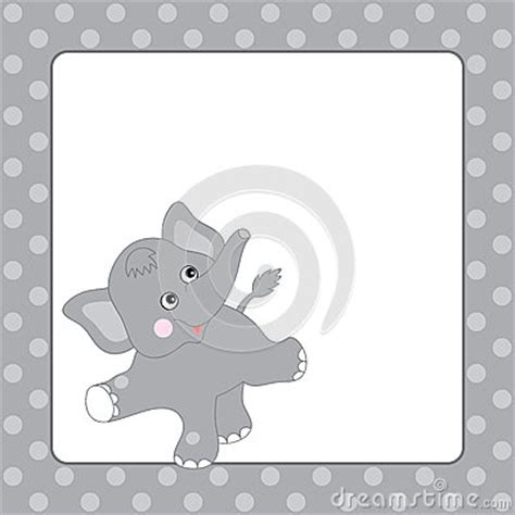 elephant card template elephant card stock vector image 66577472