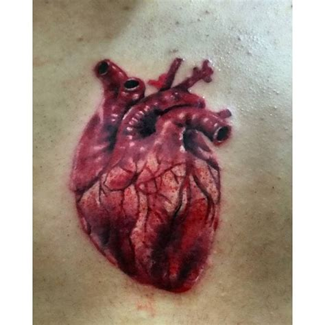 tattoo realistic heart 20 modern medical tattoos tattoodo