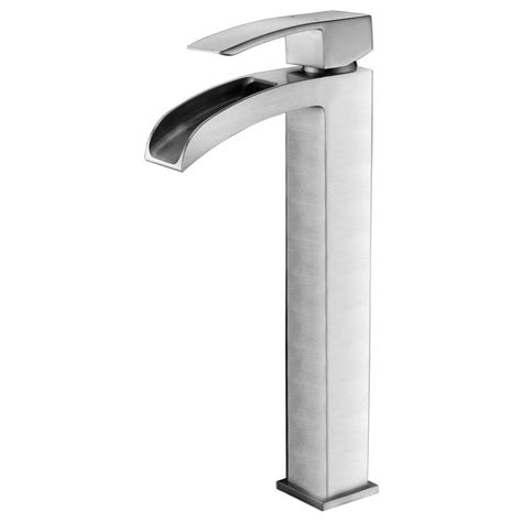 vessel sink faucets brushed nickel anzzi key series single single handle vessel bathroom