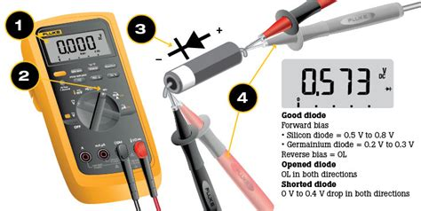 how to test diode for or bad how to test diodes using a digital multimeter