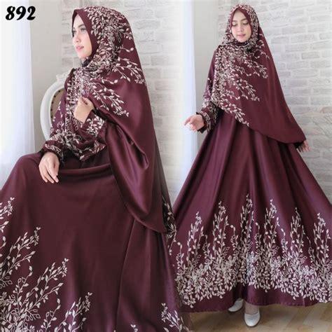 Gamis Syari Maxmara Gamis Syari Maxmara Bunga C892 Baju Muslim Cantik