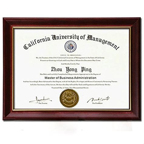 Mba For Diploma Holders In Uae by Document Frame Degree Frame Holder Certificate Solid Wood