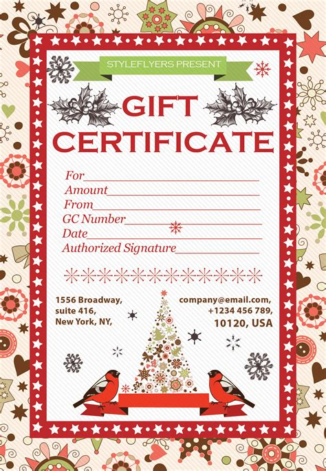 gift certificate psd template flyers as a promotion tool free psd templates