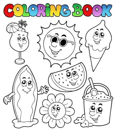 reindeer in here coloring book books coloring book vector set 01 vector other free