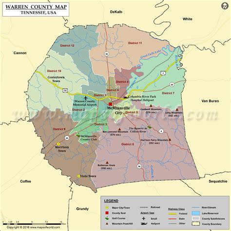 tn county map warren county map tn map of warren county tennessee
