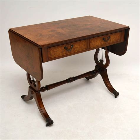 regency style burr walnut sofa table la60083