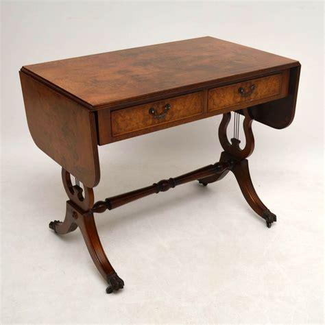 antique sofa table regency style burr walnut sofa table la60083