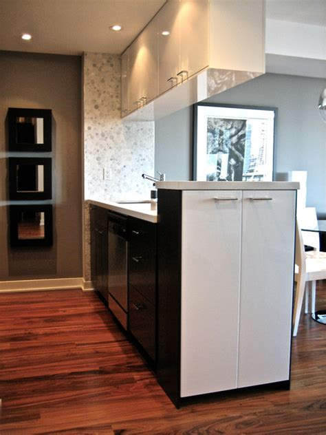 Modern Kitchen For Small Condo Small Downtown Condo Modern Kitchen Toronto By David J Design Inc