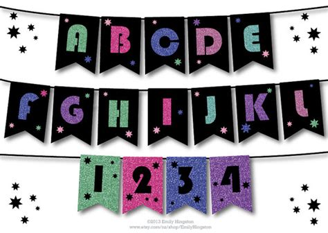 50th birthday banner template alphabet template personalized banner diy birthday