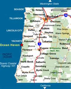 map of hwy 101 oregon map and directions to our yachats oregon lodging rental