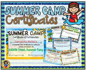 summer c certificate template this 6 pack set of beautifully designed page