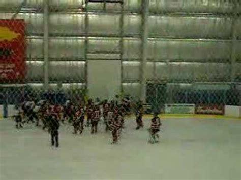 hockey bench clearing brawl richmond minor hockey bench clearing brawl youtube