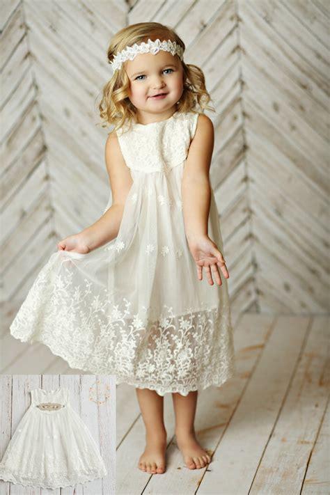 white flower dress lace dress rustic flower