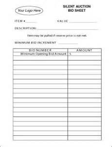 bid sheets for silent auction template lawn care bid sheets anuvrat info