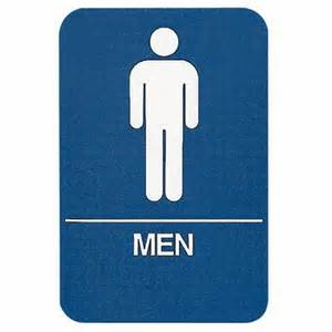 Mens Bathroom Sign Sign Men Restroom Ada Compliant Educator S Depot
