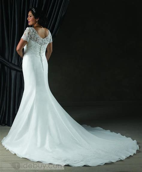 mermaid wedding dresses plus size plus size mermaid wedding dress with sleevescherry