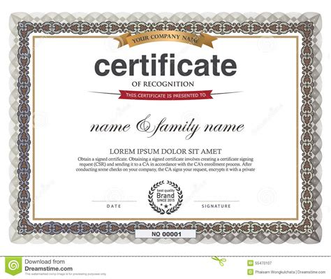 certificate design template stock vector image 55470107