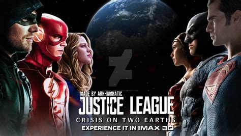 film justice league crisis on two earths justice league crisis on two earths movie banner by