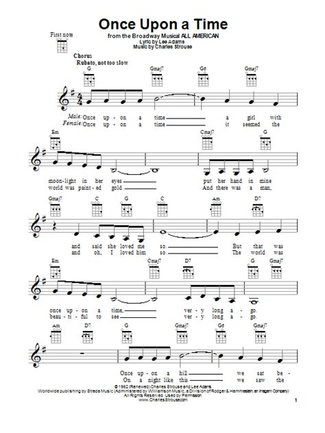 once upon a time 0385614322 once upon a time sheet music direct