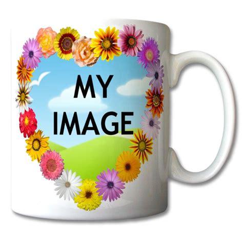 design mug printing custom flower heart mug love gifts design your own