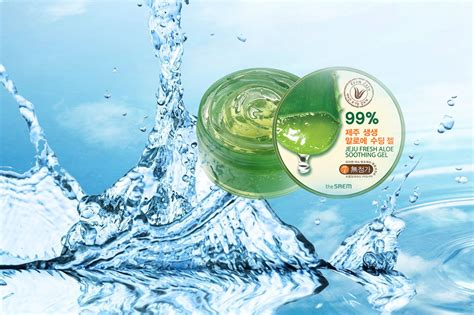 The Saem Jeju Aloe Vera Soothing Gel 99 the saem jeju fresh aloe soothing gel 99