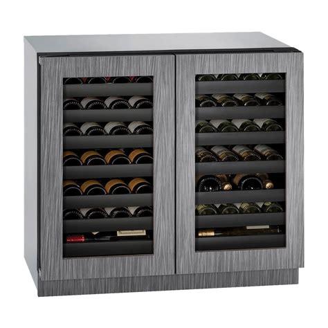 uline wine cooler u line wine captain 62 bottle built in wine cooler silver at pacific sales