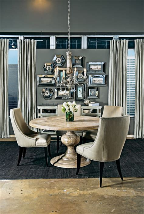 eclectic dining room tables magnolia round dining table tone poem eclectic