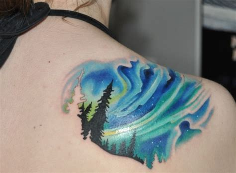 aurora tattoo northern lights i don t really like this one but