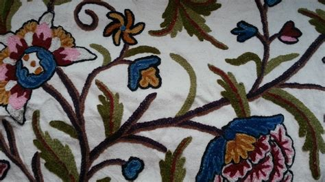 Crewel Upholstery Fabric by Artique Crewel Fabric Artique