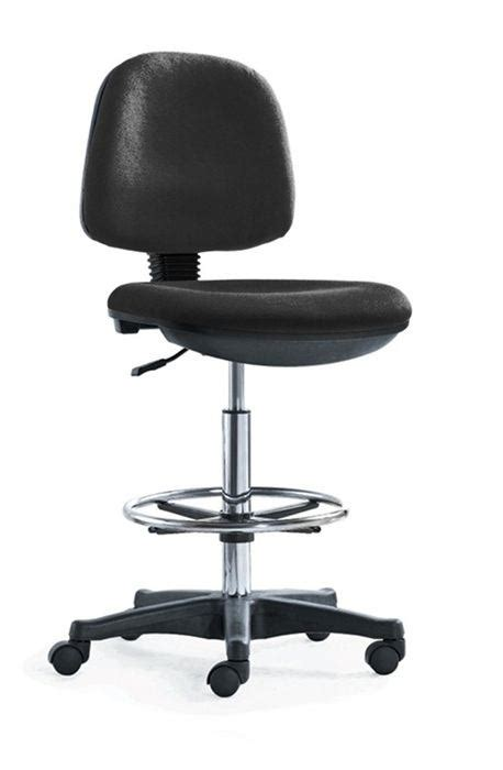 silla de trabajo sillas altas de trabajo c ruedas y apoyapies duzzu negro