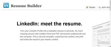 resume builder linkedin there are two ways to print your linkedin profilejoe