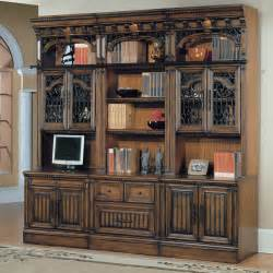 Antique Glass Bookcase Parker House Barcelona 6 Piece Bookcase With Glass Doors