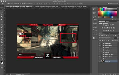 overlay templates for photoshop twitch stream overlay psd template doomdesigns sellfy com
